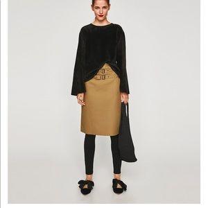 Black Faux Fur Sweatshirt, NWT
